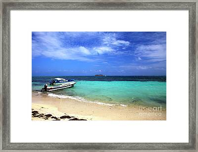 San Andres Island Framed Print by John Rizzuto
