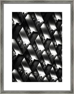 San Antonio At Night Framed Print by Eduard Moldoveanu