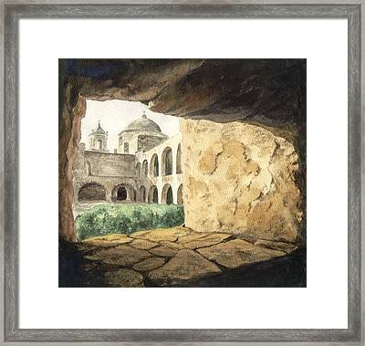 San Antonio Mission Framed Print