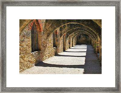 Framed Print featuring the photograph San Antonio Mission San Jose by Gregory Ballos
