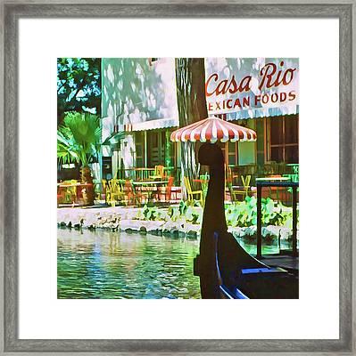 San Antonio River Framed Print by Dale Stillman