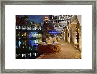 San Antonio River Walk Framed Print by Frozen in Time Fine Art Photography