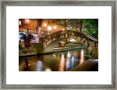 San Antonio River Walk V1 Framed Print