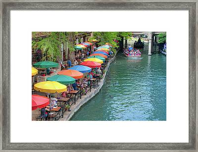 San Antonio Riverwalk - A Place For Love Framed Print by Gregory Ballos