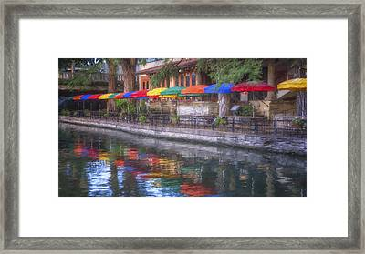 San Antonio Riverwalk Colors Framed Print