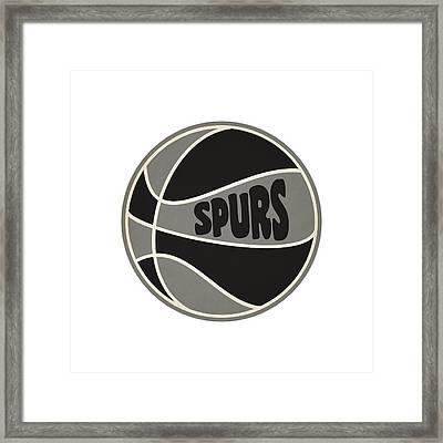 San Antonio Spurs Retro Shirt Framed Print