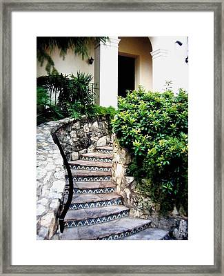 San Antonio Stairway Framed Print by Will Borden