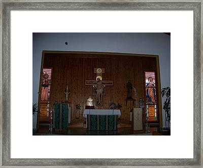 San Bernardo Abad,la Virgen Milagrosa Framed Print