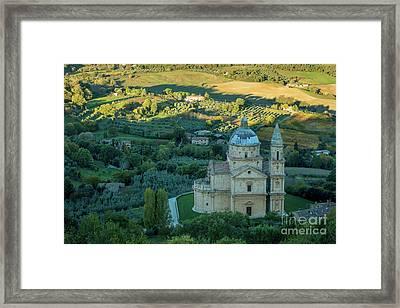 Framed Print featuring the photograph San Biagio Church by Brian Jannsen