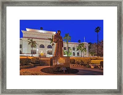 Framed Print featuring the photograph San Buenaventura City Hall by Susan Candelario