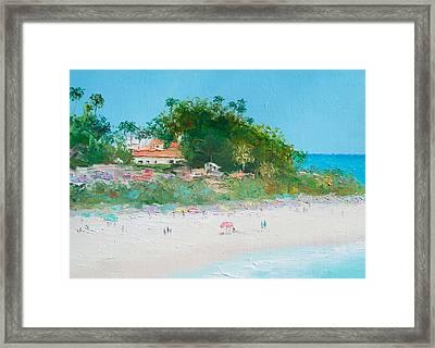 San Clemente Beach Art  Framed Print by Jan Matson