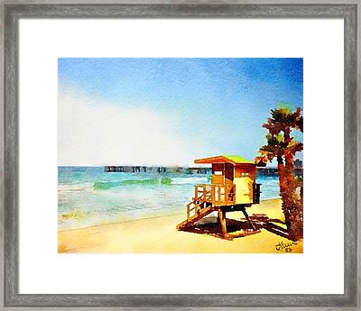 San Clemente Beach, California Framed Print