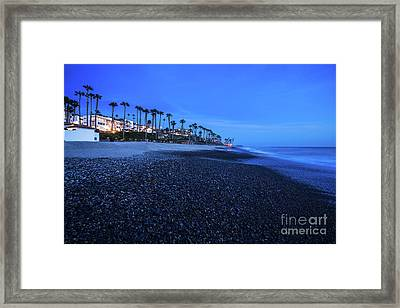 San Clemente Ca Beach At Night Photo Framed Print