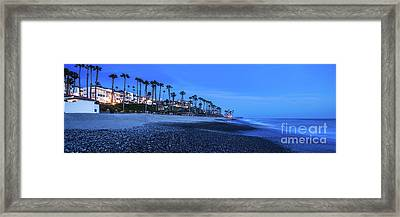 San Clemente Ca Beach Panorama Photo Framed Print