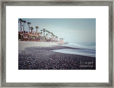 San Clemente Ca Beach Retro Photo Framed Print