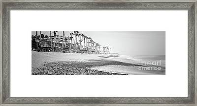 San Clemente Ca Black And White Panoramic Picture Framed Print