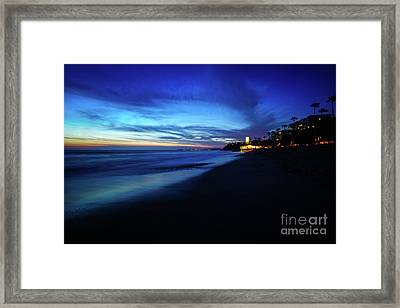 San Clemente Ca Sunset High Resolution Photo Framed Print