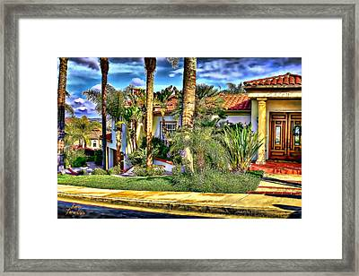 San Clemente Estate 3 Framed Print by Kathy Tarochione