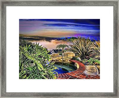 San Clemente Estate Framed Print by Kathy Tarochione
