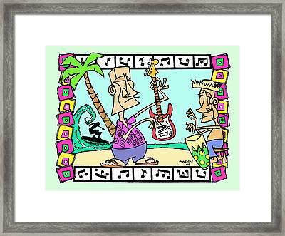 San Clemente Ocean Festival Tiki Framed Print by Aaron Bodtcher