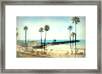 San Clemente Painted 2 Framed Print