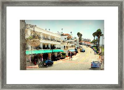 San Clemente Painted 3 Framed Print