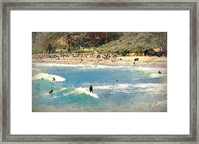 San Clemente Painted 7 Framed Print