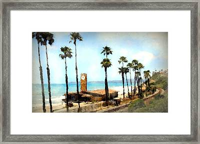 San Clemente Painted Framed Print