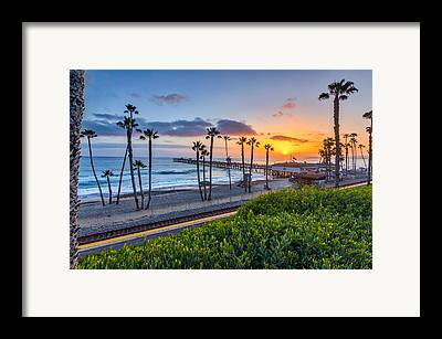 San Clemente Beach Framed Prints