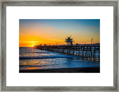 San Clemente Pier At Dusk Framed Print