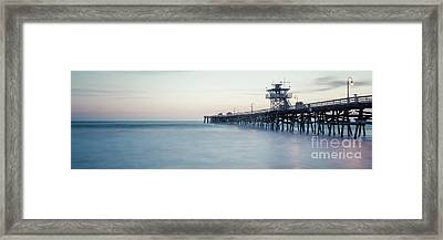 San Clemente Pier At Dusk Panorama Photo Framed Print