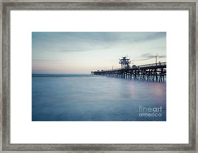 San Clemente Pier At Dusk Photo Framed Print