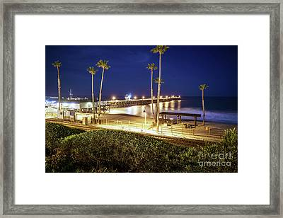 San Clemente Pier At Night High Resolution Photo Framed Print