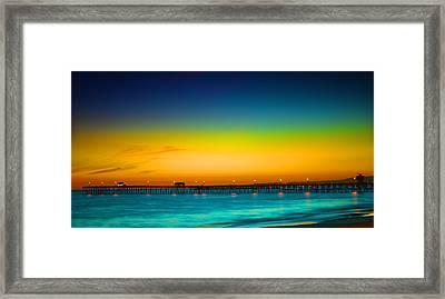 San Clemente Pier Framed Print by DRK Studios