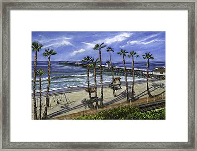 San Clemente Pier Framed Print by Lisa Reinhardt