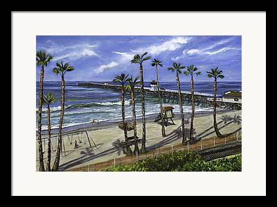 San Clemente Paintings Framed Prints