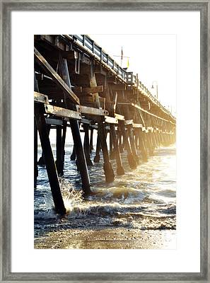 Framed Print featuring the photograph San Clemente Pier Magic Hour by Kyle Hanson
