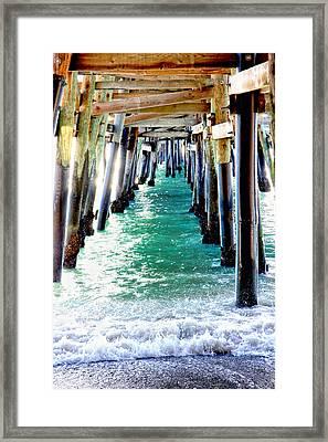San Clemente Pier Framed Print by Rosanne Nitti