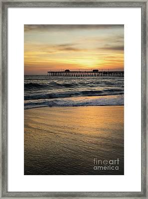 San Clemente Pier Sunset High Resolution Photo Framed Print