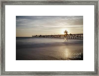 San Clemente Pier Sunset Framed Print