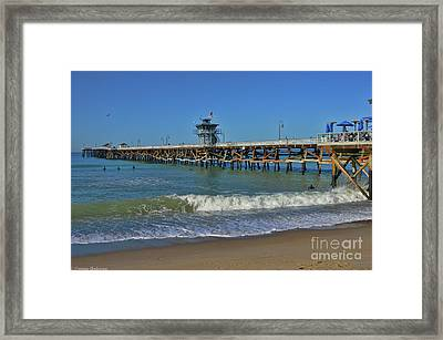 San Clemente Pier Framed Print by Tommy Anderson