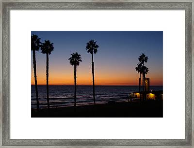 San Clemente Sunset Framed Print by Ty Nichols