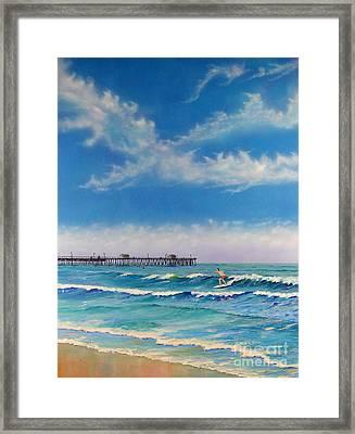 San Clemente Surf Framed Print