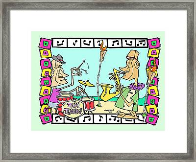 San Clemente Tiki Timers Ocean Festival Framed Print by Aaron Bodtcher