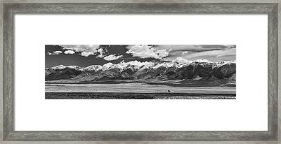 San De Cristo Mountains Panorama In Black And White Framed Print by James BO Insogna