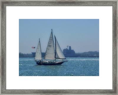 San Diego Bay Framed Print by JAMART Photography