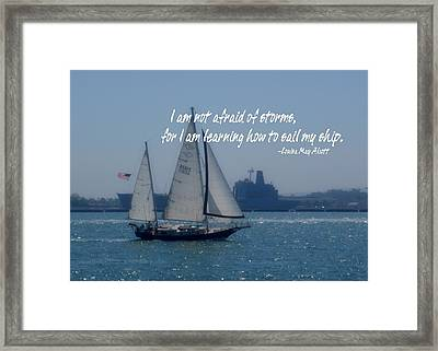 San Diego Bay Quote Framed Print by JAMART Photography