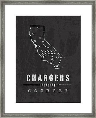 San Diego Chargers Art - Nfl Football Wall Print Framed Print