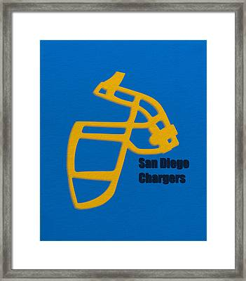 San Diego Chargers Retro Framed Print by Joe Hamilton