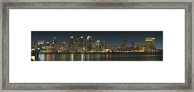 San Diego Cityscape Framed Print by Mike McGlothlen